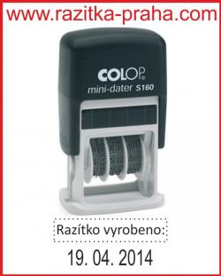 Razítko Colop Mini-Dater S 160